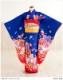 七五三レンタル 紺色に桜鞠  j7006【7歳女児/女の子七五三】《レンタル七五三》《753レンタル》〔2020〕〔子供着物〕〔貸衣装〕〔七歳〕〔7才〕[衣装レンタル/レンタル衣装/着物]