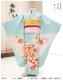 7歳 女の子 正絹 着物レンタル 七五三 j7315 最高級 上質着物 フルセット 753 子供着物 6歳 7才 結婚式 七草祝い 人気 レトロ モダン おしゃれ 上質着物 2021 貸衣装 発表会 「手描き友禅」 綺麗な水色に吉祥束ね熨斗