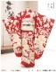 7歳 女の子 正絹 着物レンタル 七五三 j7319 フルセット 753 高級プレミアム 子供着物 6歳 7才 結婚式 七草祝い 人気 レトロ モダン かわいい 2021 貸衣装 発表会 「紅一点」 上品な赤地に絢爛縁起吉祥鶴