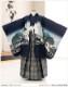 七五三 5歳 男の子 着物レンタル d5297 袴レンタル 753フルセット 貸衣装 卒園式 子供着物 2020 七草祝い 人気 「光」ブランド 紺色に縁起飛翔鷹