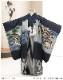 七五三 5歳 男の子 着物レンタル d5386 袴レンタル 753フルセット 貸衣装 卒園式 子供着物 2020 七草祝い 人気 「光」ブランド 紺地束ね熨斗に飛翔鷹
