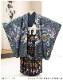 七五三 5歳 男の子 着物レンタル d5388 袴レンタル 753フルセット 貸衣装 卒園式 子供着物 2020 七草祝い 人気「Yamato」ブランド 紺地金箔に祝い飛翔鷹