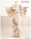 訪問着レンタル 小さいサイズ 小さめSサイズ hw1476s 卒業式 着物レンタル 母 入学式 結婚式 七五三 ママ【Sサイズ フルセット お宮参り 753 卒園式 母親 kimono 人気 houmongi 往復送料無料 「ジャパンスタイル」ブランド ベージュに吉祥慶冠華
