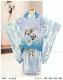 七五三 3歳 男の子 着物レンタル df052 被布セット 子供着物 753 貸衣装 2021 イベント 結婚式 三歳 人気 男 初詣 誕生日 かわいい 「花うさぎ」 水色矢絣に武勇の龍兜
