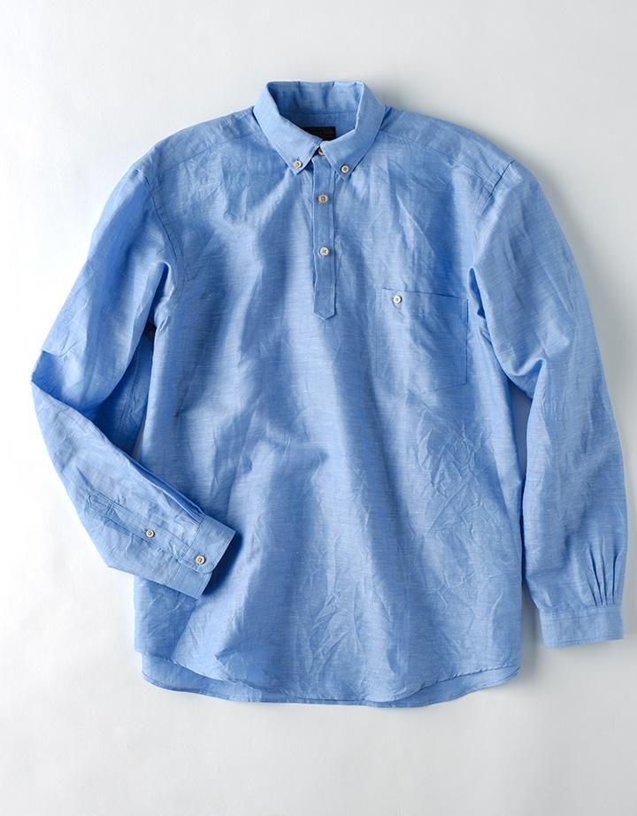 綿麻無地 POシャツ