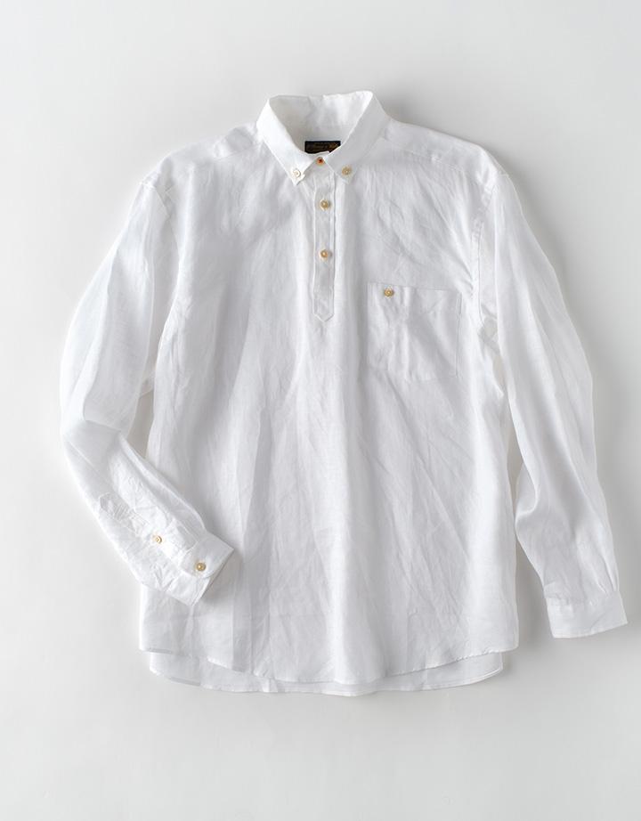 麻無地 POシャツ