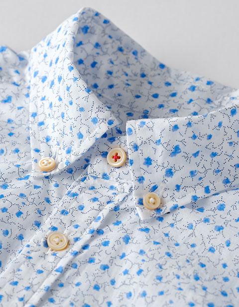 小花プリント POシャツ