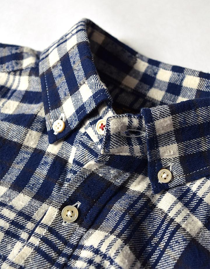 ネル先染 POシャツ