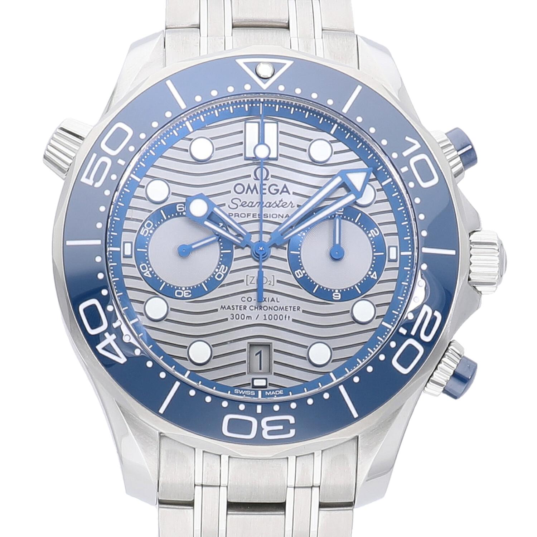 オメガ オメガ シーマスター ダイバー300m マスタークロノメーター コーアクシャル クロノグラフ ブルー 210.30.44.51.06.001 新品