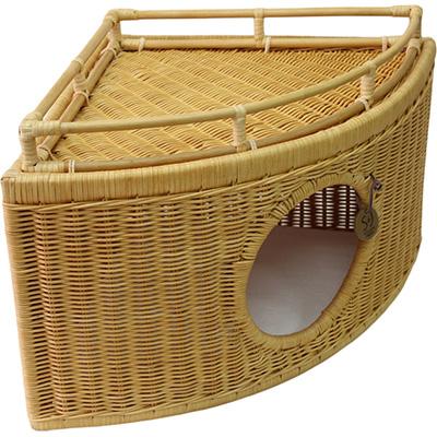 ラタン チーズハウス キャラメル シンシアジャパン ▼g ペット グッズ 犬 ドッグ 猫 キャット ベッド 送料無料