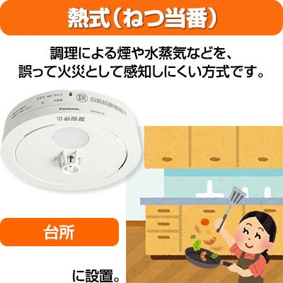 【送料込】パナソニック 薄型火災警報器 ねつ当番 SHK48155/SHK7040P ▼住宅用 火災警報器 火災報知機 熱式 日本消防検定協会検定合格品 SHK38155後継品 2020年製