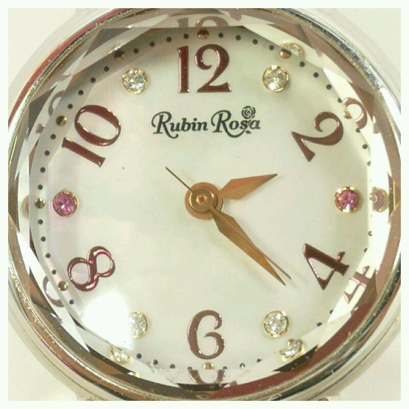 【中古】Rubin Rosa ルビンローザ レディース ソーラー充電 クォーツ R019 シェル文字盤【送料無料】