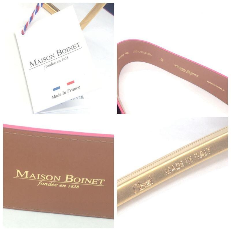 【中古】【送料無料】メゾンボワネ MAISON BOINET ベルト ネイビー 70/28 レディース