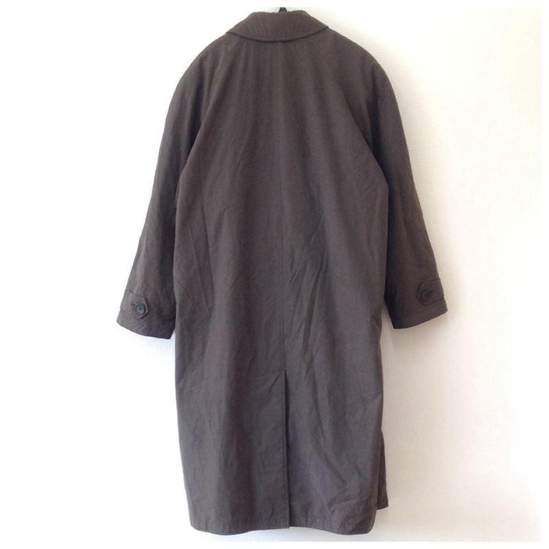 【中古】ヒューゴボス メンズ トレンチコート ダークブラウン サイズ46