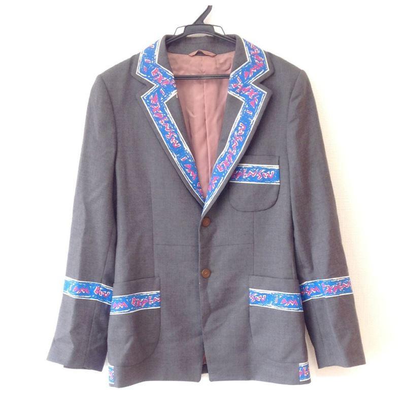 【中古】ヴィヴィアンウエストウッドマン Vivienne Westwood MAN メンズ テラードジャケット グレー サイズ46 ※難あり