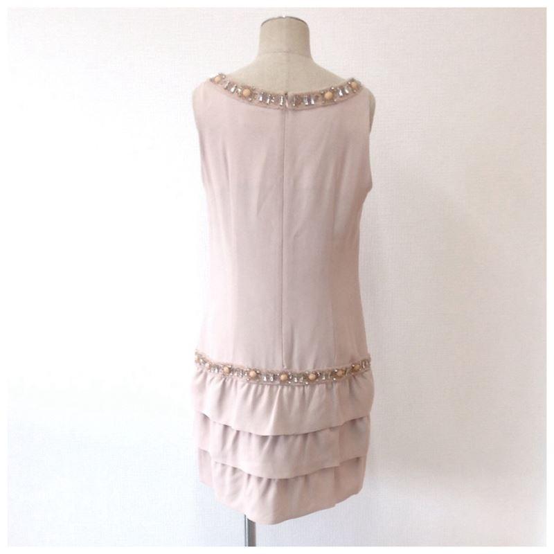 【中古】ダイアグラム グレースコンチネンタル レディース ビシューワンピース ドレス ピンクベージュ サイズ36