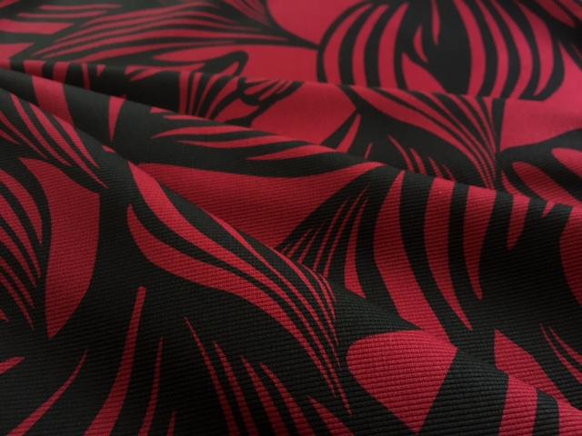【Retour】スウェードMIXミモレスカート<br> (50%OFF) 裏地付き 11,13,15号 ミモレ丈 植物柄 大人 エレガント フレアースカート ベージュ,レッド,グリーン  レディース ボトムス スカート 日本製(50%OFF)