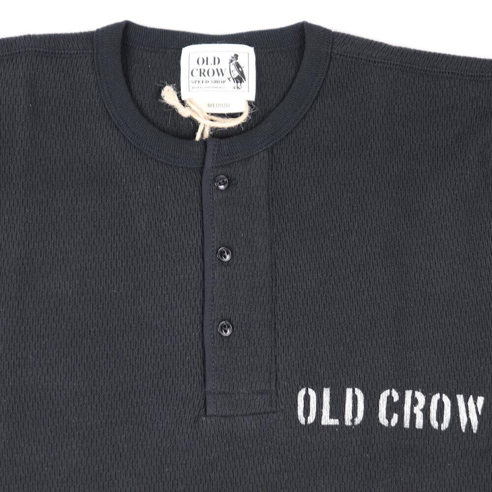 オールドクロウ ヘンリーネック ワッフル 長袖 Tシャツ ロンT サーマル メンズ OLD CROW CROW WING - L/S T-SHIRTS GLADHAND グラッドハンド GANGSTERVILLE ギャングスタービル WEIRDO ウィアード