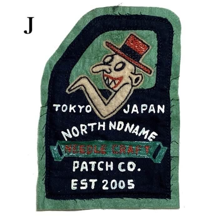 ノースノーネーム フェルトパッチ ワッペン NORTH NO NAME FELT PATCH 20-58-02