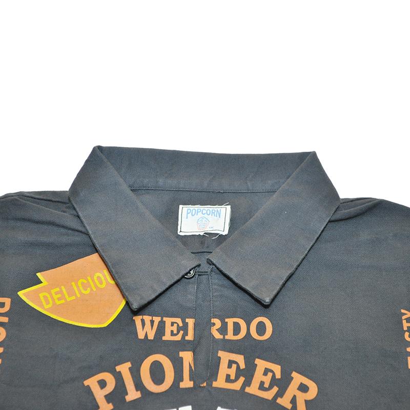 セール 40% OFF SALE WEIRDO POPCORN - S/S PULLOVER SHIRTS (BLACK)