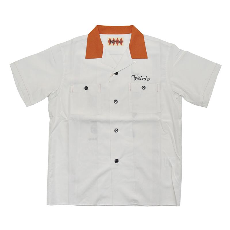 セール 40% OFF SALE WEIRDO WEIRDO COSTUMES - BOWLING SHIRTS (WHITE)
