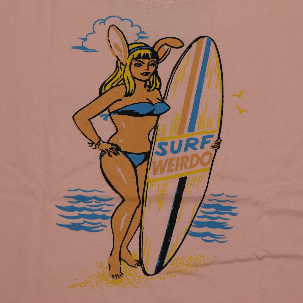 ウィアード Tシャツ 半袖 ヘンリーネック ポケット メンズ WEIRDO SURF BUNNY - S/S HENRY T-SHIRTS GLADHAND グラッドハンド GANGSTERVILLE ギャングスタービル OLD CROW オールドクロウ