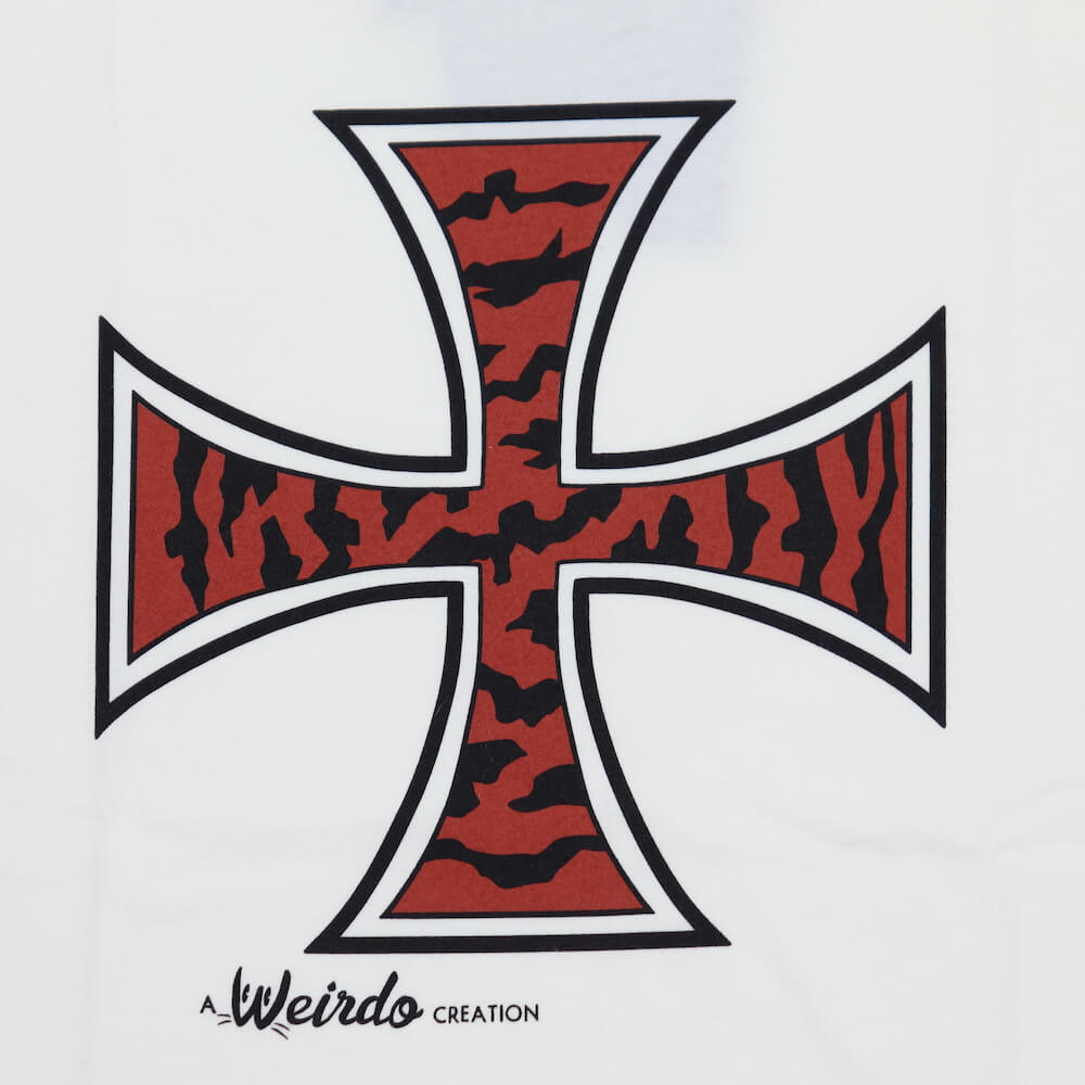 ウィアード Tシャツ クルーネック 半袖 メンズ WEIRDO TIGER CROSS - S/S T-SHIRTS GLADHAND グラッドハンド GANGSTERVILLE ギャングスタービル OLD CROW オールドクロウ