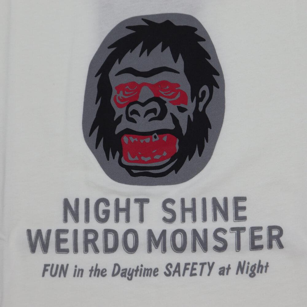 ウィアード Tシャツ クルーネック 半袖 メンズ WEIRDO NIGHT SHINE MONSTER - S/S T-SHIRTS GLADHAND グラッドハンド GANGSTERVILLE ギャングスタービル OLD CROW オールドクロウ