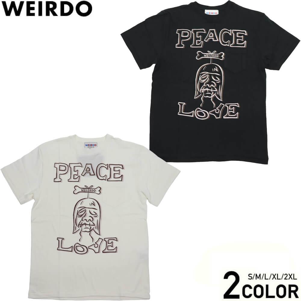 ウィアード Tシャツ 半袖 クルーネック ポケット メンズ WEIRDO SHRUNKEN HEAD - S/S T-SHIRTS GLADHAND グラッドハンド GANGSTERVILLE ギャングスタービル OLD CROW オールドクロウ