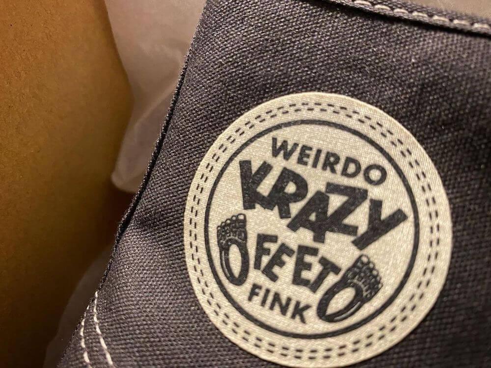 ウィアード スニーカー メンズ ハイカット キャンバス WEIRDO KRAZY FEET - SNEAKER GLADHAND グラッドハンド GANGSTERVILLE ギャングスタービル OLD CROW オールドクロウ