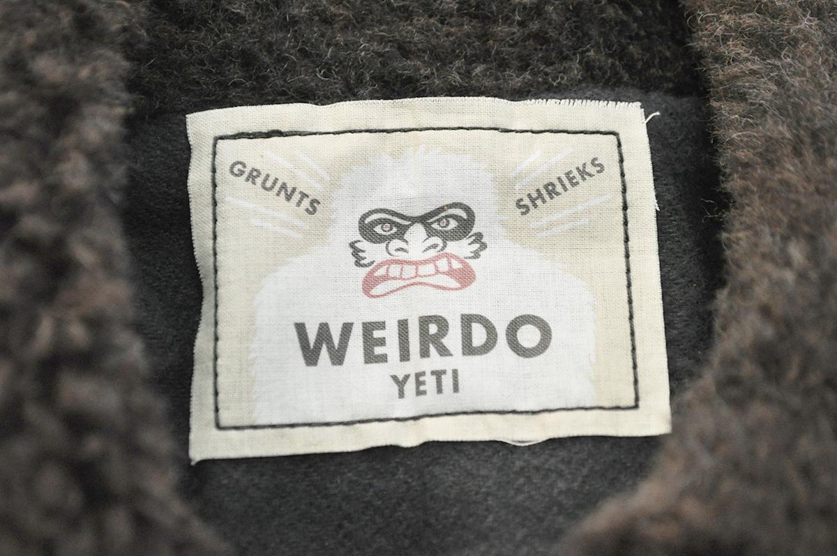 WEIRDO YETI FRIENDS - JACKET (BLACK×BROWN)