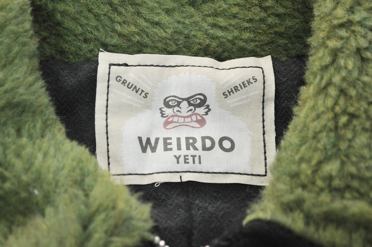 セール 40% OFF SALE WEIRDO YETI FRIENDS - JACKET (BLACK×GREEN)