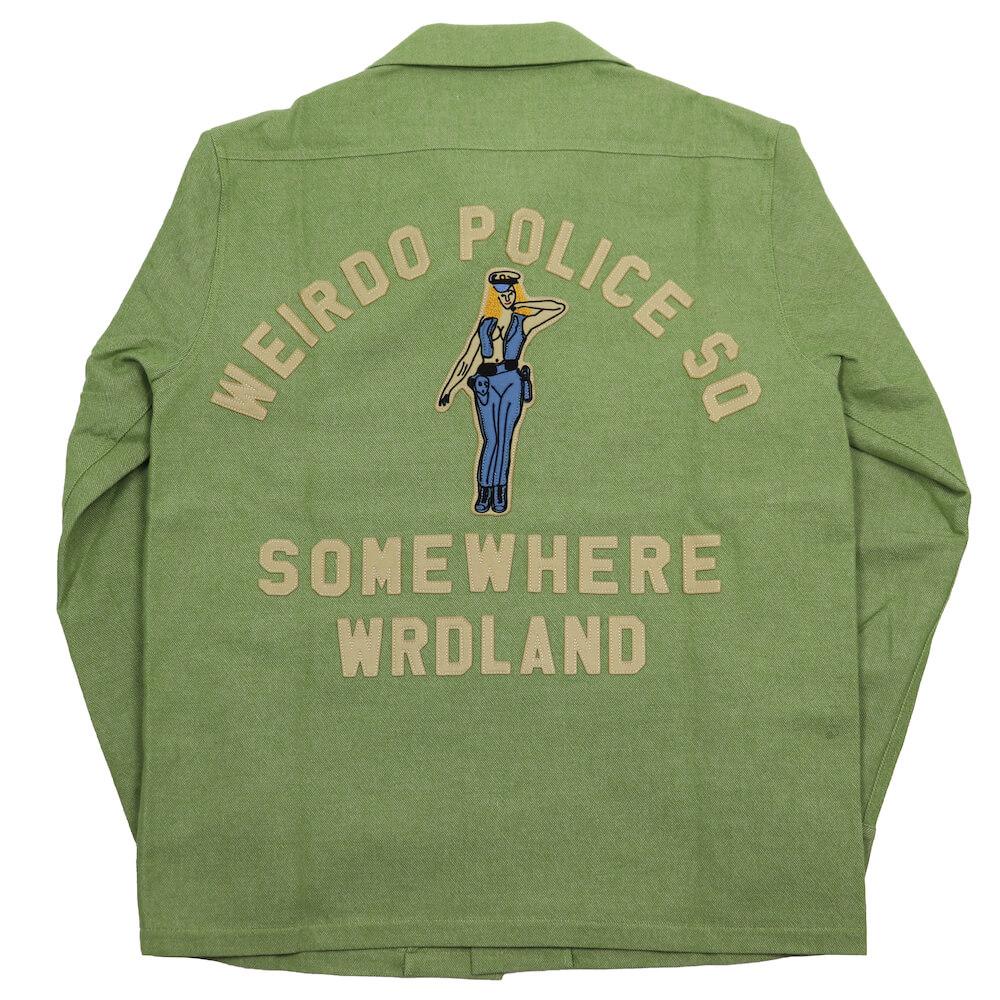 ウィアード ウールツイル オープンカラーワークシャツ 長袖 開襟シャツ メンズ WEIRDO POLICE SQ - L/S WORK SHIRTS GLADHAND グラッドハンド GANGSTERVILLE ギャングスタービル OLD CROW オールドクロウ