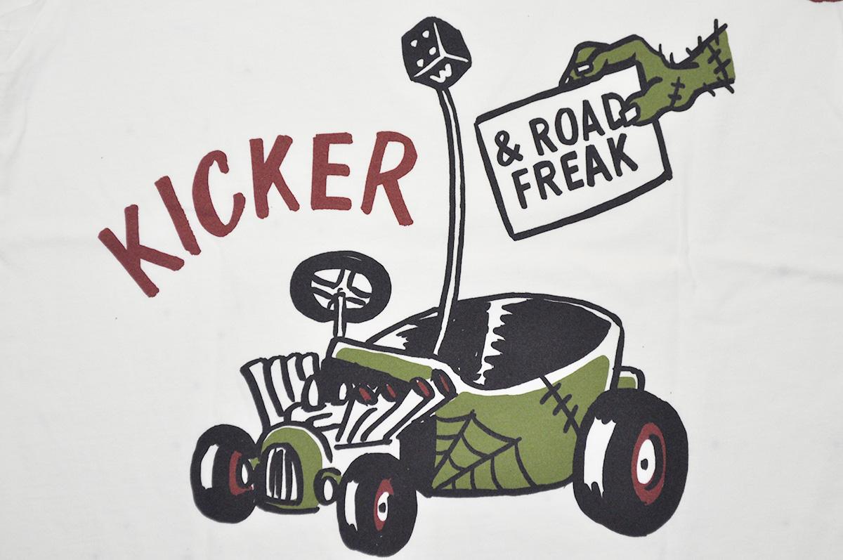 セール 40% OFF SALE WEIRDO ROAD FREAK KICKER - S/S T-SHIRTS (WHITE)