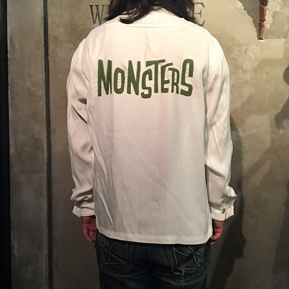 WEIRDO MONSTERS - L/S SHIRTS (WHITE)