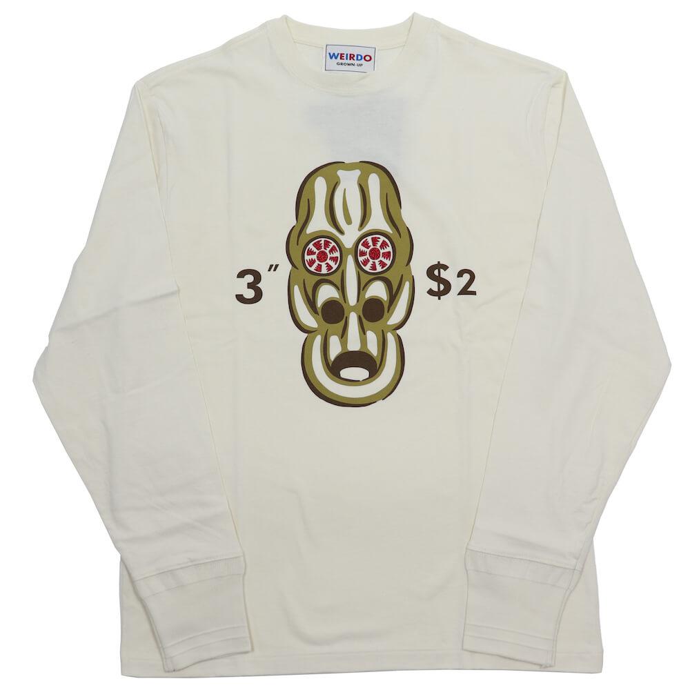 ウィアード クルーネック 長袖 Tシャツ ロンT メンズ WEIRDO VOODOO NO.394 - L/S T-SHIRTS GLADHAND グラッドハンド GANGSTERVILLE ギャングスタービル OLD CROW オールドクロウ