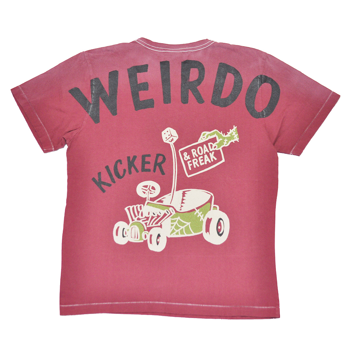 セール 40% OFF SALE WEIRDO ROAD FREAK KICKER - S/S T-SHIRTS (BURGUNDY)