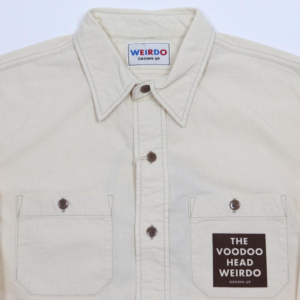 ウィアード シャンブレー シャツ 長袖 メンズ WEIRDO VOODOO - L/S SHIRTS GLADHAND グラッドハンド GANGSTERVILLE ギャングスタービル OLD CROW オールドクロウ