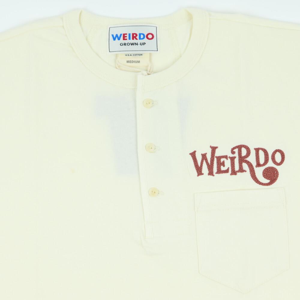 セール 40% OFF SALE ウィアード Tシャツ ヘンリーネック 半袖 メンズ WEIRDO CRAZY SIGN - S/S HENRY T-SHIRTS GLADHAND グラッドハンド GANGSTERVILLE ギャングスタービル OLD CROW オールドクロウ