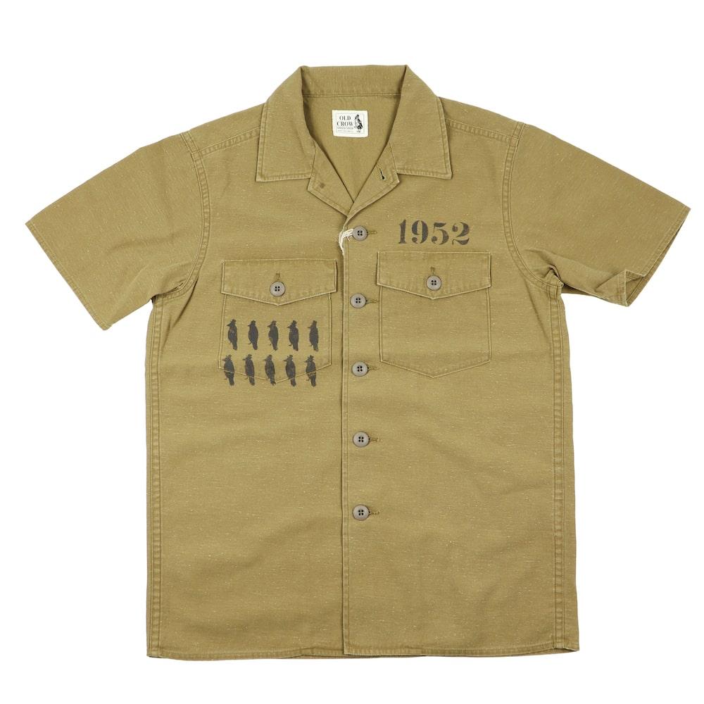 セール 40% OFF SALE オールドクロウ ワークシャツ 半袖 メンズ OLD CROW CROW STRIKE - S/S SHIRTS GLADHAND グラッドハンド GANGSTERVILLE ギャングスタービル WEIRDO ウィアード