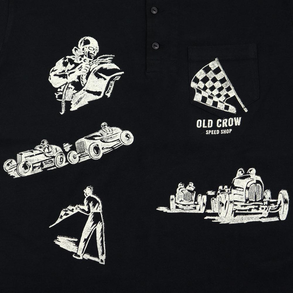 セール 40% OFF SALE オールドクロウ ヘンリーネック 半袖Tシャツ メンズ OLD CROW MEMORIES OF RACE - S/S HENRY T-SHIRTS GLADHAND グラッドハンド GANGSTERVILLE ギャングスタービル WEIRDO ウィアード