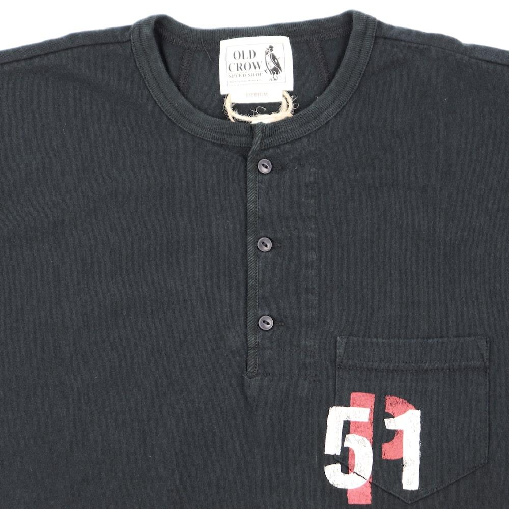 セール 40% OFF SALE オールドクロウ ヘンリーネック 半袖Tシャツ メンズ OLD CROW CROW FORCE - S/S HENRY T-SHIRTS GLADHAND グラッドハンド GANGSTERVILLE ギャングスタービル WEIRDO ウィアード
