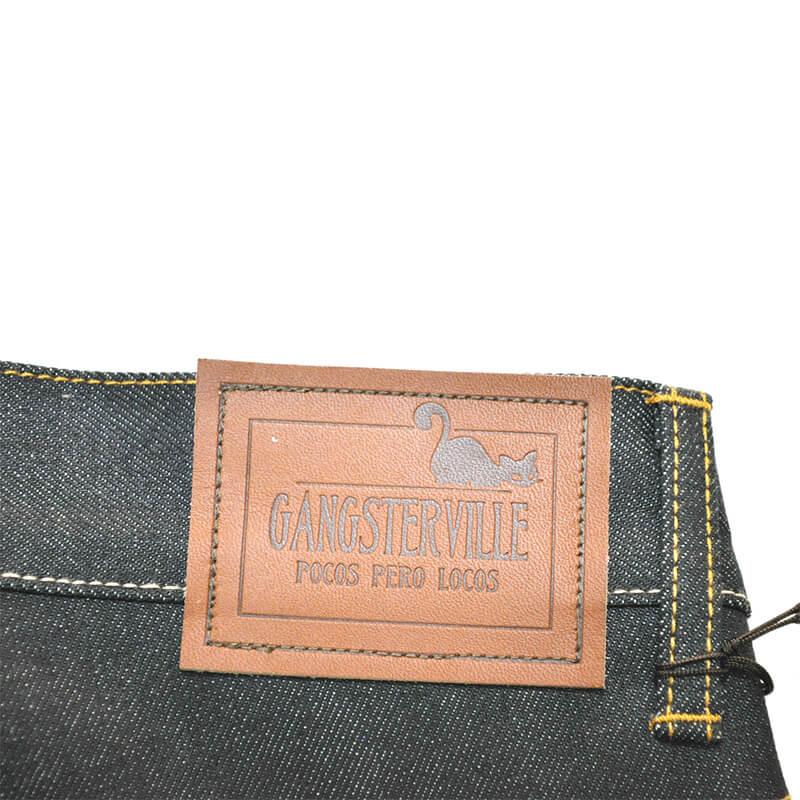 ギャングスタービル デニムパンツ メンズ インディゴ ブラック レギュラー スリム リジッド GANGSTERVILLE THUG - DENIM RIGID/GLADHAND/グラッドハンドWEIRDO/ウィアード/OLD CROW/オールドクロウ