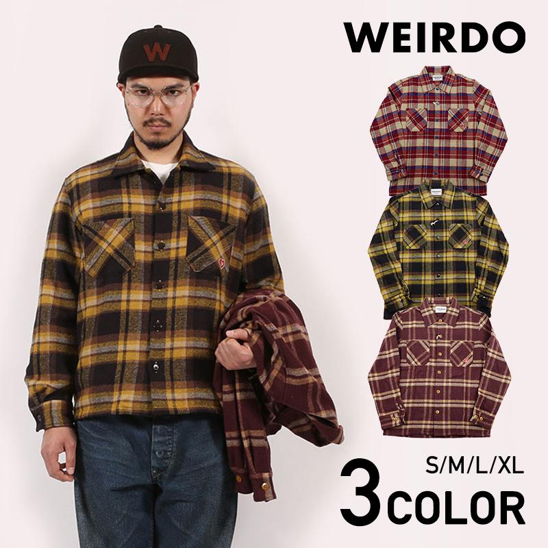 セール 40% OFF SALE WEIRDO HEART OF WEIRDO - L/S CHECK SHIRTS