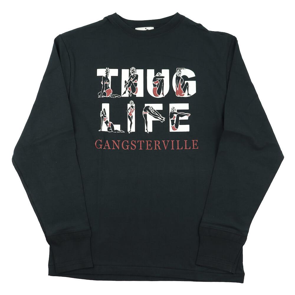 セール 40% OFF SALE ギャングスタービル クルーネック 長袖 Tシャツ ロンT メンズ GANGSTERVILLE THUG LIFE - L/S T-SHIRTS GLADHAND グラッドハンド WEIRDO ウィアード OLD CROW オールドクロウ