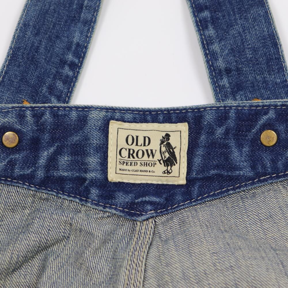 オールドクロウ ローバック オーバーオール ヴィンテージフィニッシュ メンズ OLD CROW OLD RODDER - OVERALL VINTAGE FINISH GLADHAND グラッドハンド GANGSTERVILLE ギャングスタービル WEIRDO ウィアード