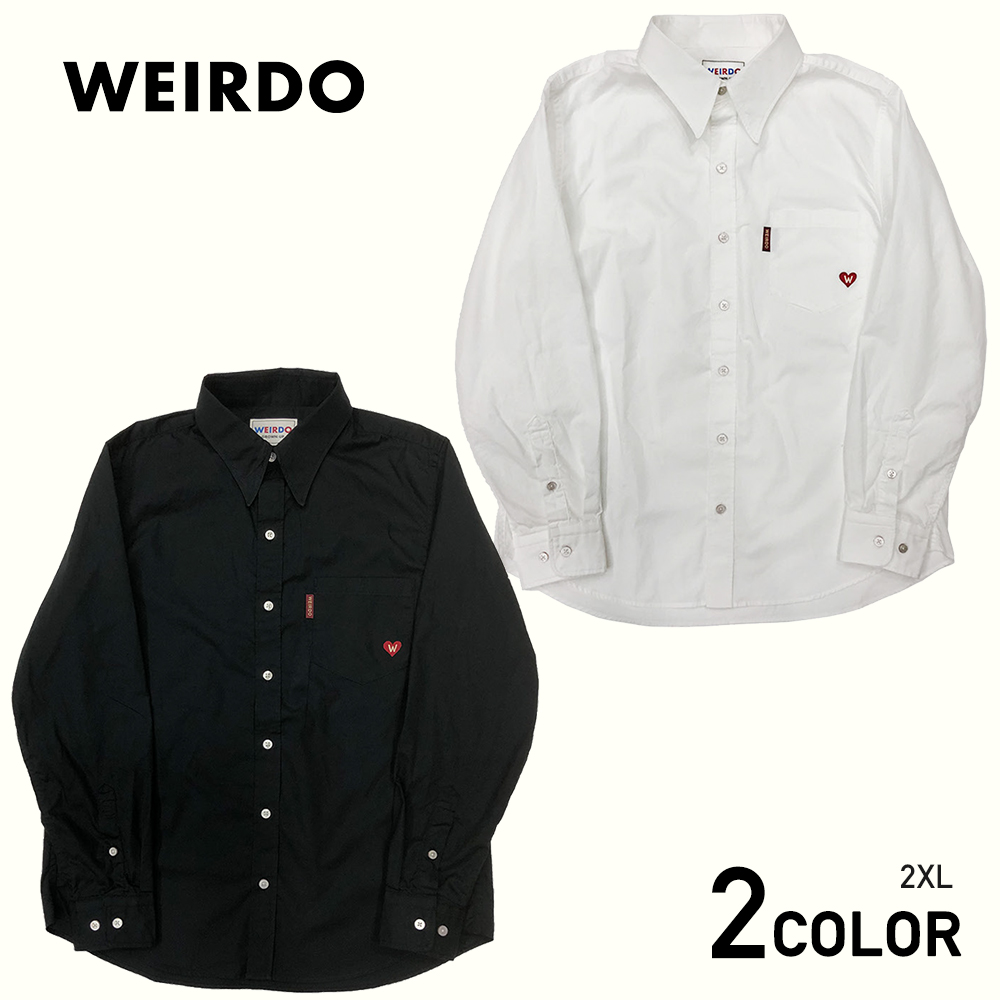 2XL:WEIRDO HEART OF WEIRDO - L/S SHIRTS