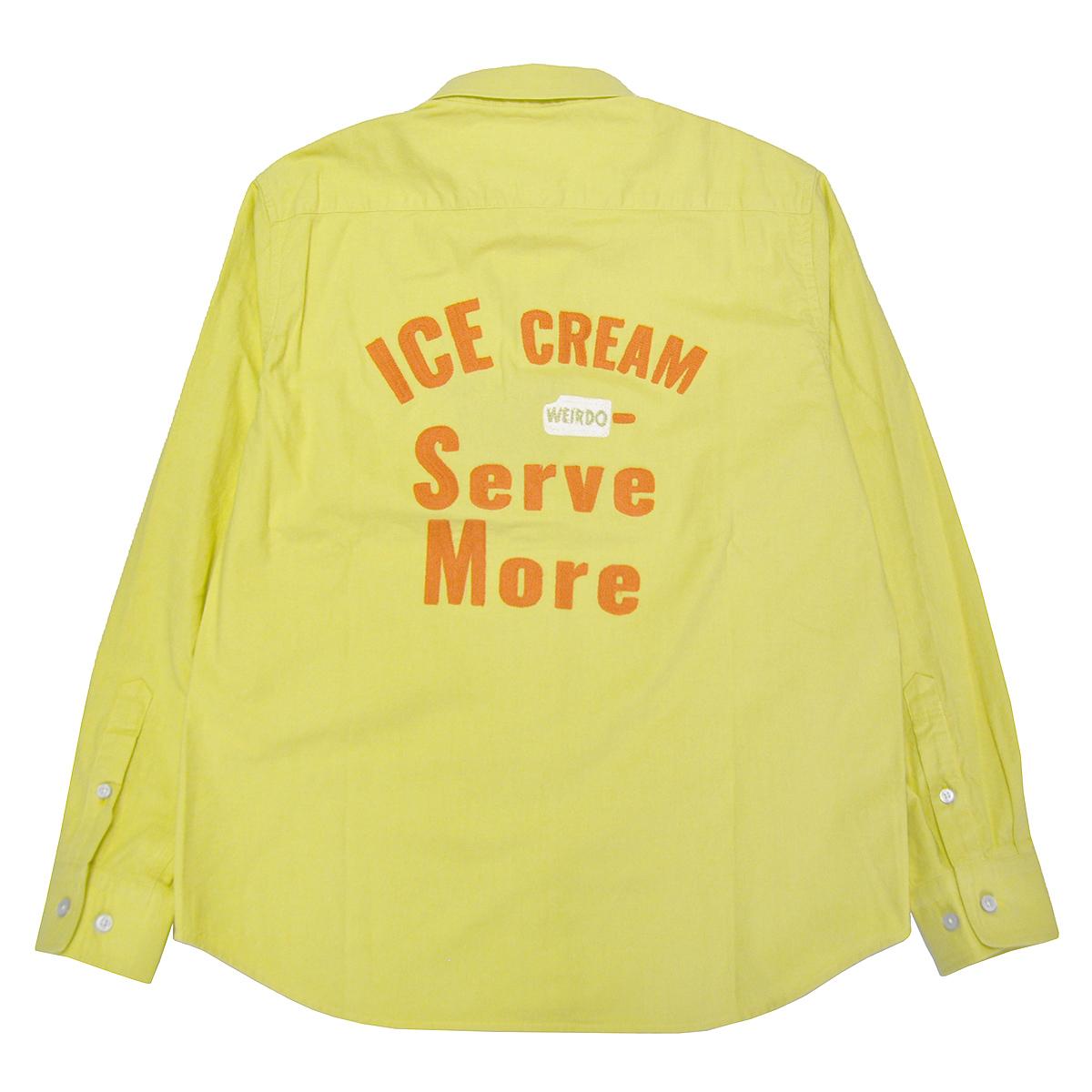 セール 40% OFF SALE WEIRDO ICE MANIA - L/S B.D. SHIRTS (LEMONADE)
