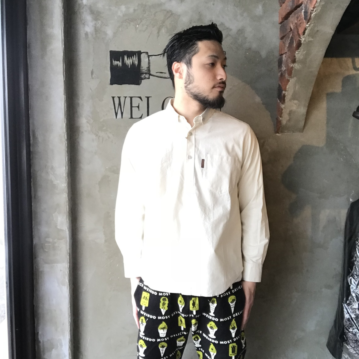 セール 40% OFF SALE WEIRDO ICE MANIA - L/S B.D. SHIRTS (VANILLA)