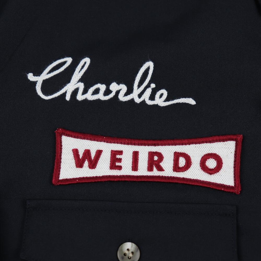 ウィアード ボタンダウン ワークシャツ 長袖 メンズ WEIRDO NON SKID - L/S WORK SHIRTS GLADHAND グラッドハンド GANGSTERVILLE ギャングスタービル OLD CROW オールドクロウ